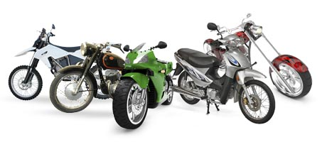 a wide range of motorcycles