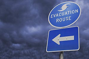 An Evacuation Route sign